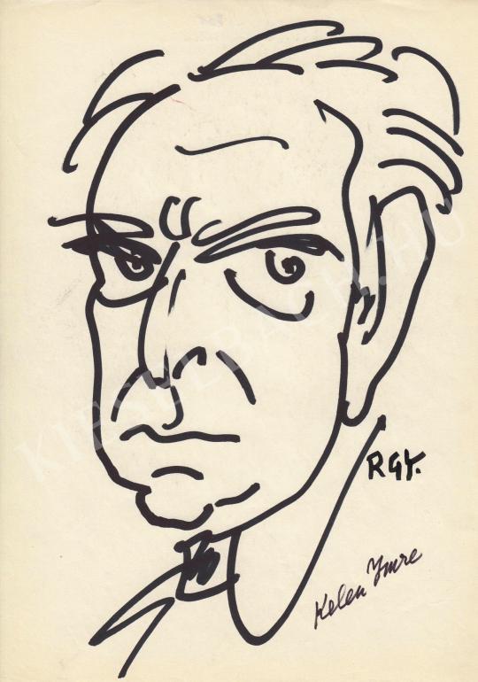 Eladó  Rózsahegyi György - Kelen Imre grafikus, karikaturista portréja festménye