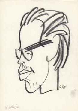 Rózsahegyi György - Kertész N. László karikaturista portréja