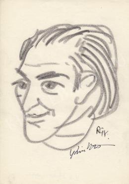 Rózsahegyi György - Kiss István szobrász portréja (1970-80-as évek)