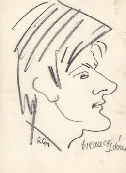 Rózsahegyi, György - Portrait of István Krenner Graphics, Caricaturist