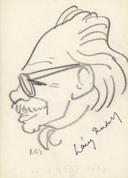 Rózsahegyi, György - Portrait of Rudolf Láng Painter, Graphics, Costume Designer (1970-80s)