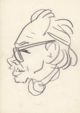 Rózsahegyi György - Láng Rudolf festő, grafikus, jelmeztervező portréja