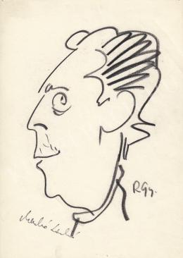 Rózsahegyi György - Menkó László karikaturista portréja