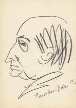Rózsahegyi György - Monostori-Moller Pál festő portréja (1970-es évek)
