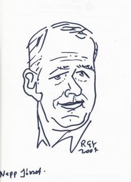 Rózsahegyi, György - Portrait of József Nepp Cartoonist