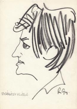 Rózsahegyi György - Nyárády Klára karikaturista portréja