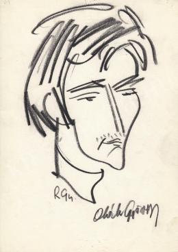 Rózsahegyi, György - Portrait of György Oláh Graphics (1990s)