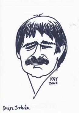 Rózsahegyi György - Orosz István grafikus portréja