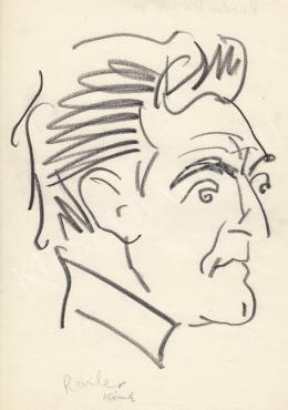 Rózsahegyi György - Raszler Károly grafikus portréja