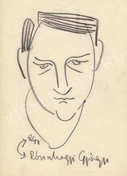 Rózsahegyi, György - Self-Caricature (1970s)