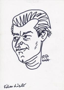 Rózsahegyi, György - Portrait of László Réber Graphics, Illustrator, Caricaturist