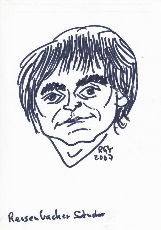 For sale  Rózsahegyi, György - Portrait of Sándor Reisenbüchler Cartoonist 's painting