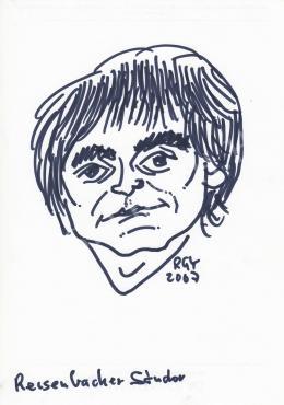 Rózsahegyi, György - Portrait of Sándor Reisenbüchler Cartoonist