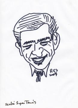 Rózsahegyi, György - Portrait of Tamás Szabó Sípos Cartoonist, Decorator, Graphics