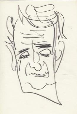 Rózsahegyi, György - Portrait of Iván Szabó Sculptor (1970-80s)