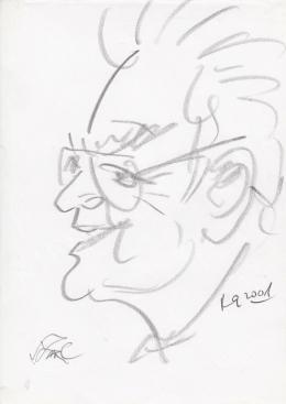 Rózsahegyi György - Szász Endre grafikus, festő portréja