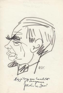 Rózsahegyi György - Szekula Jenő író portréja