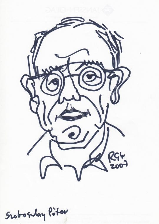 For sale  Rózsahegyi, György - Portrait of Péter Szoboszlay Graphics, Cartoonist 's painting