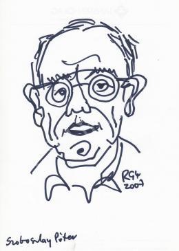 Rózsahegyi György - Szoboszlay Péter grafikus, rajzfilmkészítő portréja