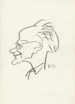 Rózsahegyi György - Szür-Szabó József grafikus, rajzfilmkészítő, festő portréja