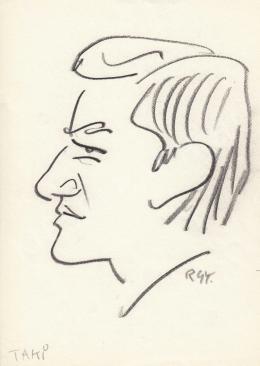 Rózsahegyi György - Takács Zoltán (Taki) grafikus portréja