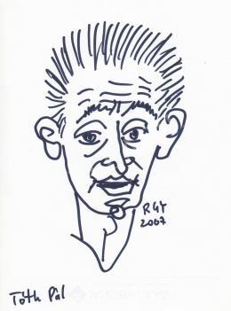 Rózsahegyi, György - Portrait of Pál Tóth Cartoonist