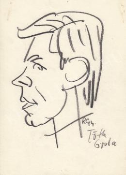 Rózsahegyi György - Tóth Gyula karikaturista portréja (1970-80-as évek)