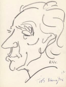 Rózsahegyi György - Tóth Menyhért festő portréja (1980 körül)