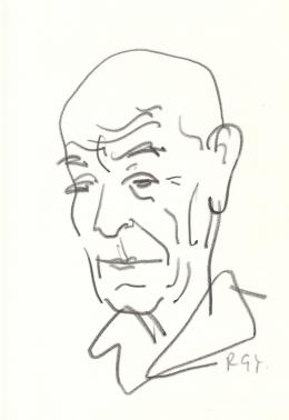 Rózsahegyi György - Uitz Béla festő, grafikus portréja