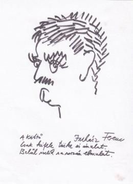Rózsahegyi, György - Portrait of Ferenc Juhász Poet