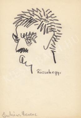 Rózsahegyi György - Juhász Ferenc költő portréja
