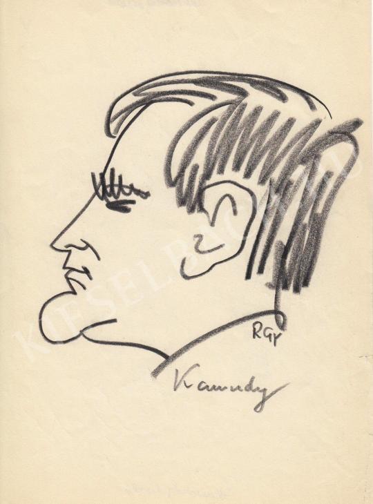 Eladó  Rózsahegyi György - Kamondy László drámaíró portréja festménye