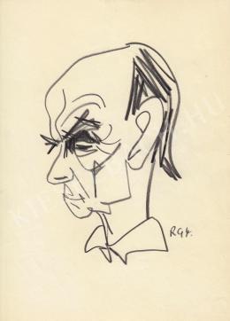 Rózsahegyi, György - Portrait of Lajos Kassák Writer, Poet, Artist