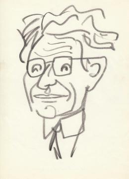 Rózsahegyi, György - Portrait of László Kardos Historian