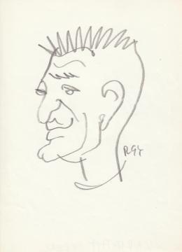 Rózsahegyi, György - Portrait of Ferenc Karinthy Writer