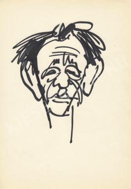 Rózsahegyi, György - Portrait of Zoltán Keszthely Poet, Writer (1970-80s)