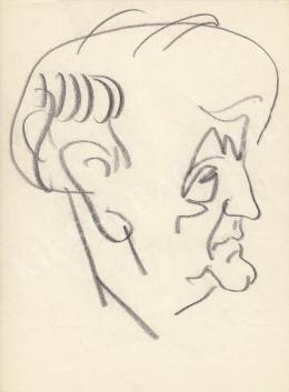 Rózsahegyi, György - Portrait of Pál Királyhegyi Humorist, Writer