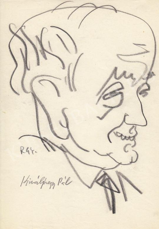Eladó  Rózsahegyi György - Királyhegyi Pál humorista, író, forgatókönyvíró portréja festménye