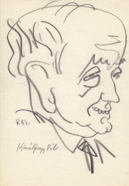 Rózsahegyi György - Királyhegyi Pál humorista, író, forgatókönyvíró portréja