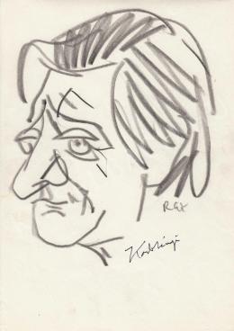Rózsahegyi, György - Portrait of János Kodolányi Writer (c. 1965)