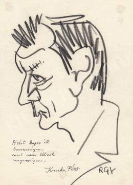 Rózsahegyi György - Kuczka Péter író, költő portréja
