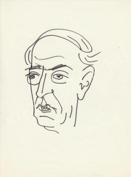 Rózsahegyi György - Hollós Korvin Lajos író, költő portréja