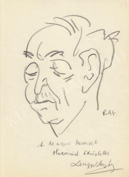 Rózsahegyi György - Lengyel Menyhért író, forgatókönyvíró portréja (1970-es évek)