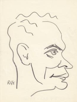 Rózsahegyi, György - Portrait of Lajos Mesterházi Writer