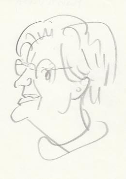 Rózsahegyi György - Móricz Virág író portréja