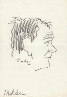 Rózsahegyi György - Moldova György író portréja (1970-es évek)