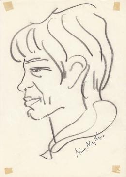 Rózsahegyi György - Nemes Nagy Ágnes költő portréja