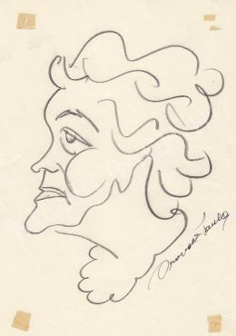 Rózsahegyi, György - Portrait of Paula Oravetz Writer (1970s)