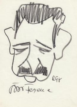 Rózsahegyi György - Örsi Ferenc író portréja