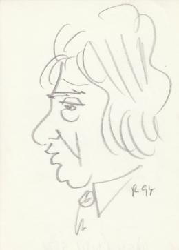 Rózsahegyi, György - Portrait of Géza Páskándi Writer, Poet, Playreader